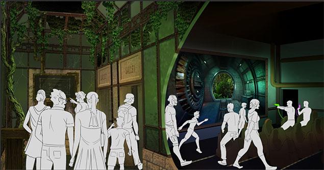 Interactive Theatre entrance