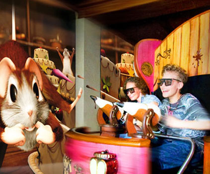 Maus au Chocolat, Interactive Dark Ride