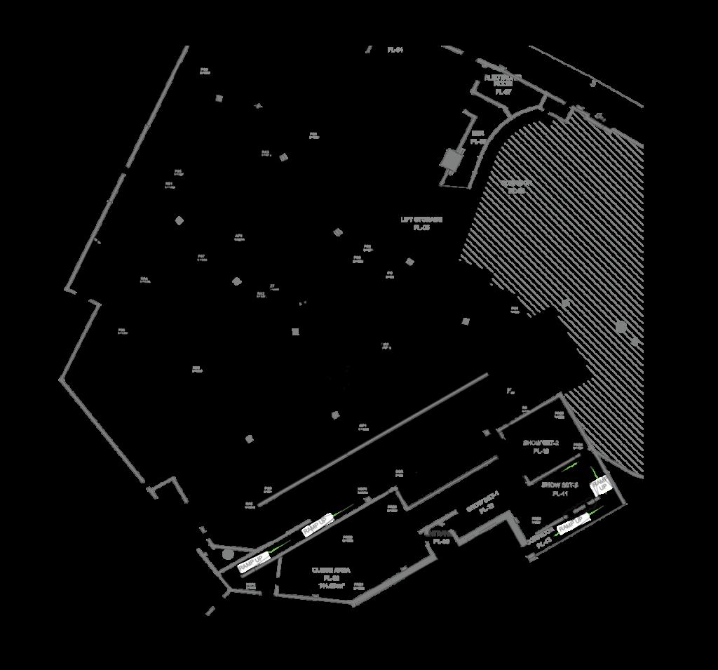 Benno's, Interactive Dark Ride, Track Layout
