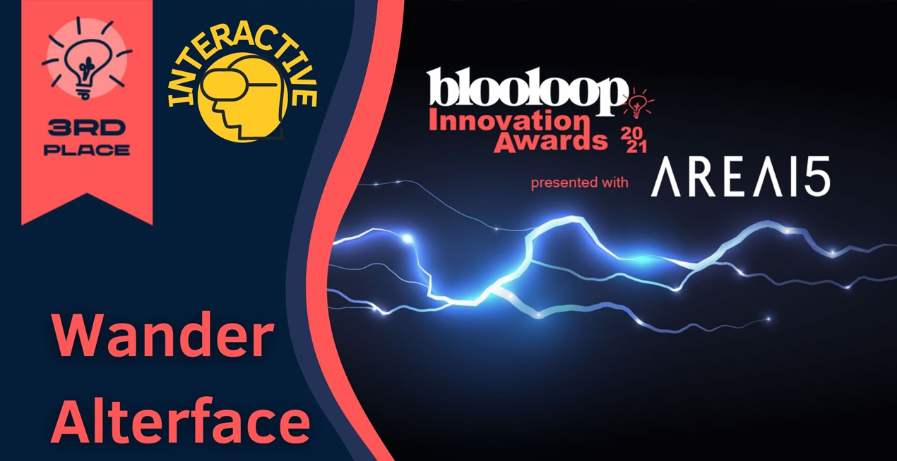 3rd place @ Blooloop Innovation Awards 2021